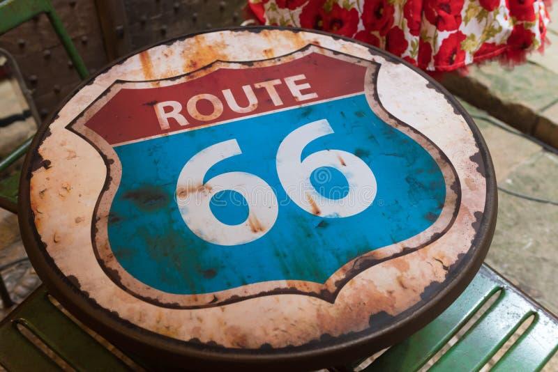 Route 66 shield stock photos
