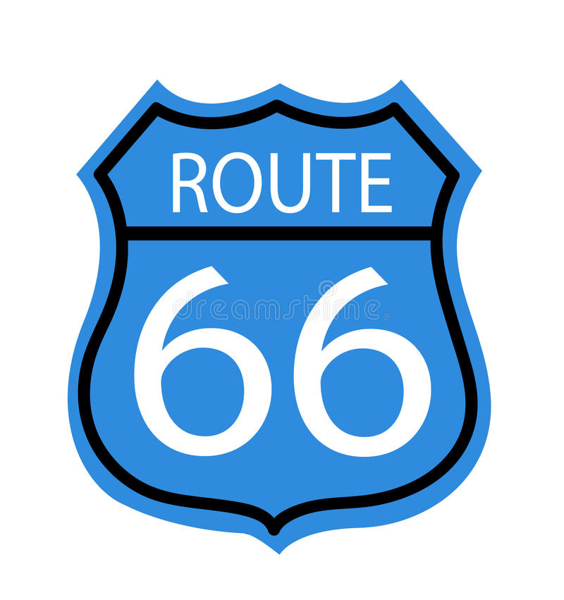 Route 66 sign. Vector illustration royalty free illustration