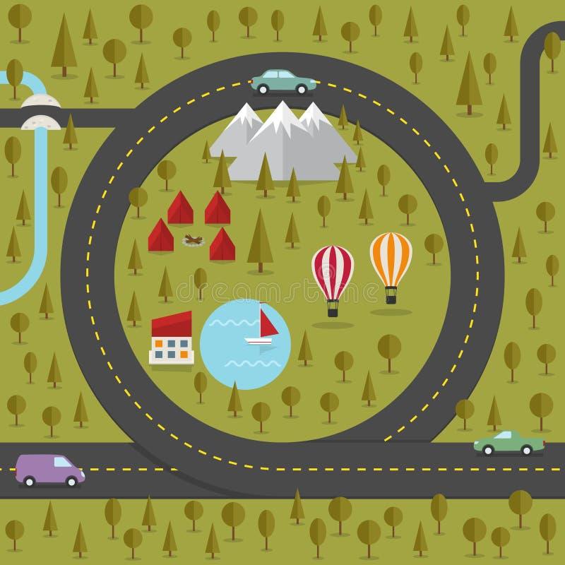 Route sous forme de coeur illustration libre de droits