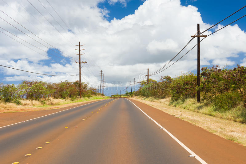 Route sur l'île de Kauai photo stock