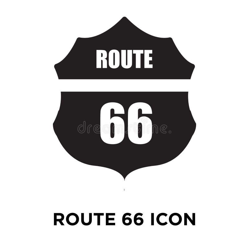 Route 66 symbolsvektor som isoleras på vit bakgrund, logobegrepp vektor illustrationer