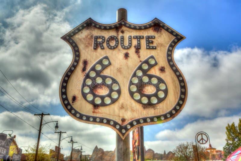 Route 66 -Teken royalty-vrije stock foto