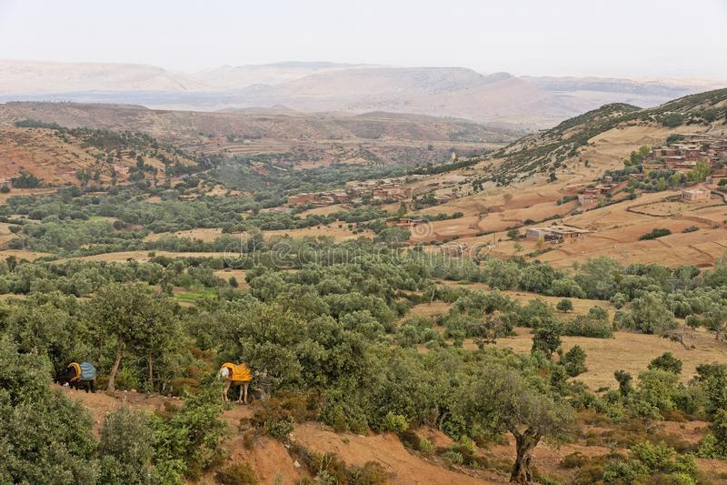 Route Tizi-n-Tichka Maroc photos stock