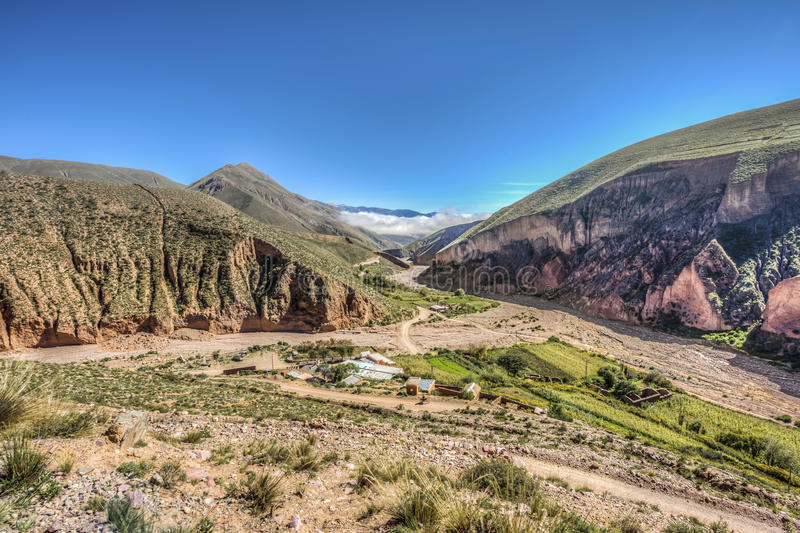 Route 13 to Iruya in Salta Province, Argentina royalty free stock photos