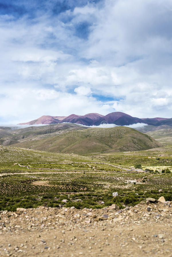 Route 13 to Iruya in Salta Province, Argentina stock images