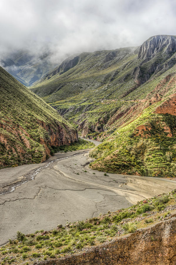 Route 13 to Iruya in Salta Province, Argentina stock photos