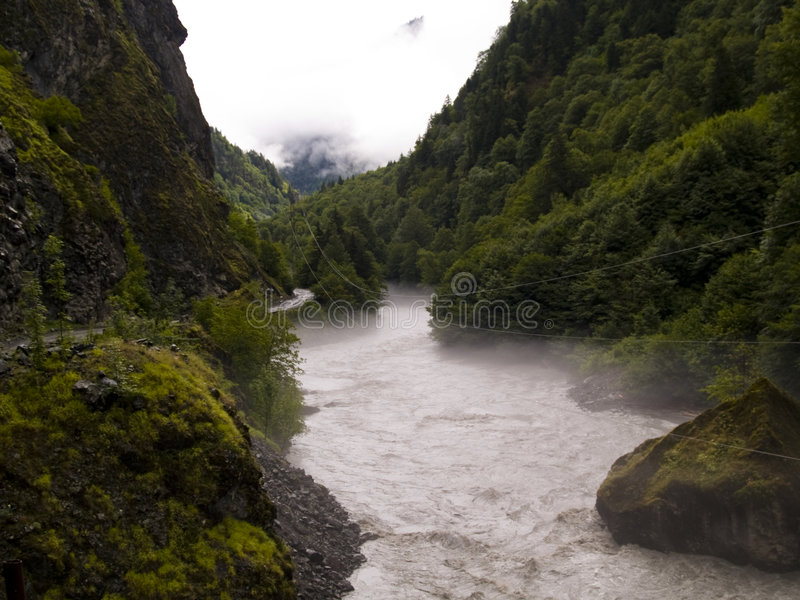 Route to Mestia royalty free stock image