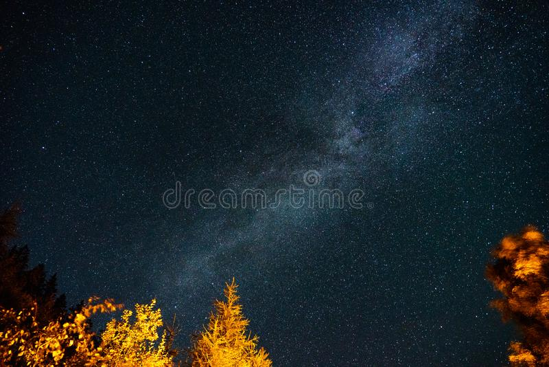 On route to the Milky Way royalty free stock photos