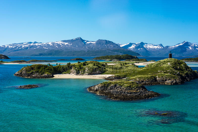 Route 862 in Troms, Northern Norway royalty free stock images