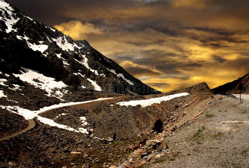 Route Turquie de montagne image stock
