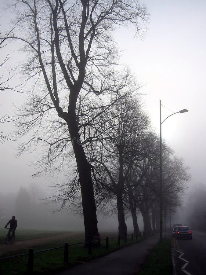 Route un jour brumeux images stock