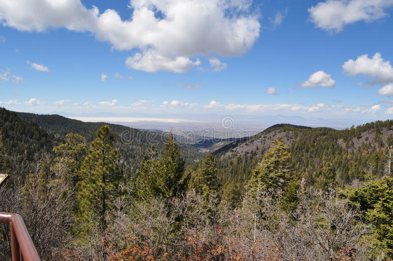 Route 54 up to Cloudcroft, New Mexico. In Early March royalty free stock photos