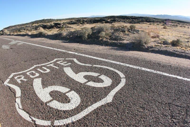 Route 66 van de V.S. stock foto