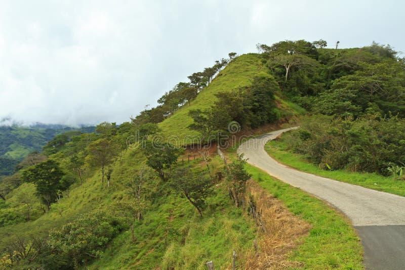 Route venteuse du Costa Rica photo stock