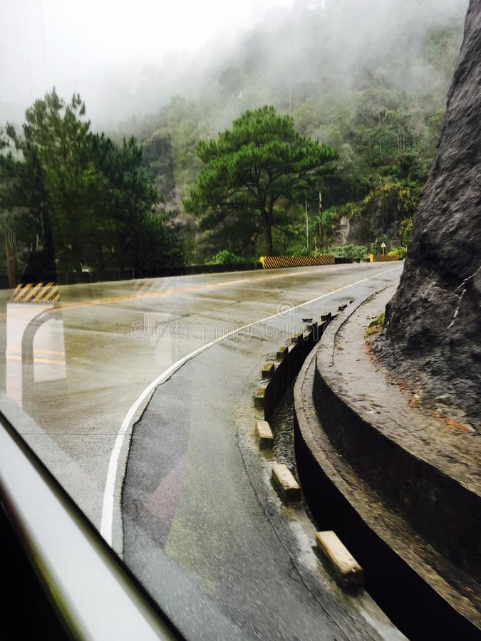 Route vers Baguio photographie stock