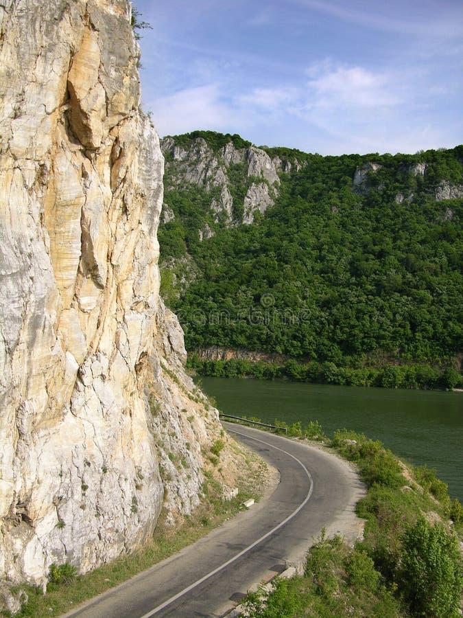 Route vers Danube photos libres de droits