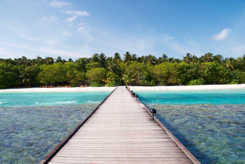 Route vers l'île royale photographie stock