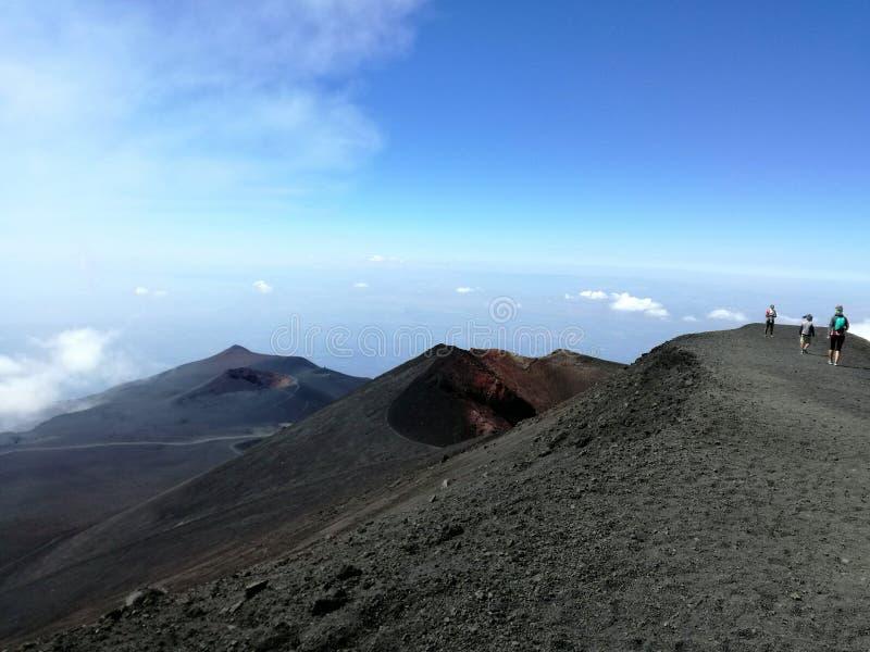 Route vers l'Etna photographie stock