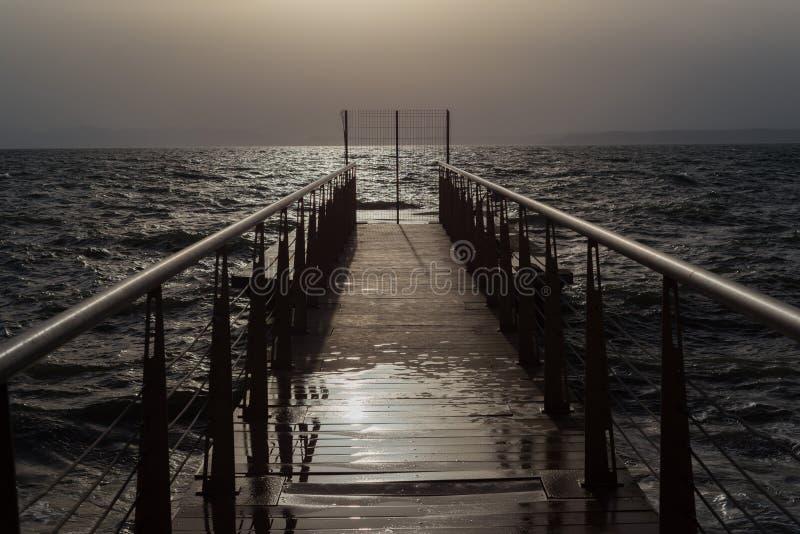 Route vers l'océan photos stock