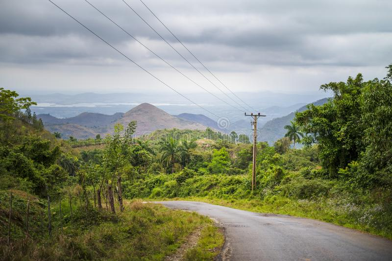 Route vers le Trinidad, Cuba photos libres de droits