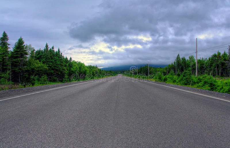 Route vers St Anthony, Canada images stock