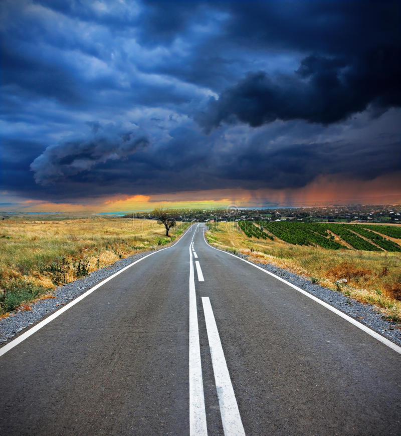 Route vide images libres de droits