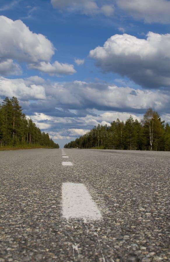 Route vide photo libre de droits