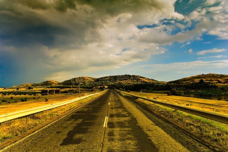 Route vide image libre de droits