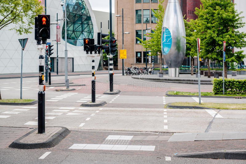 Route vide d'Eindhoven image libre de droits