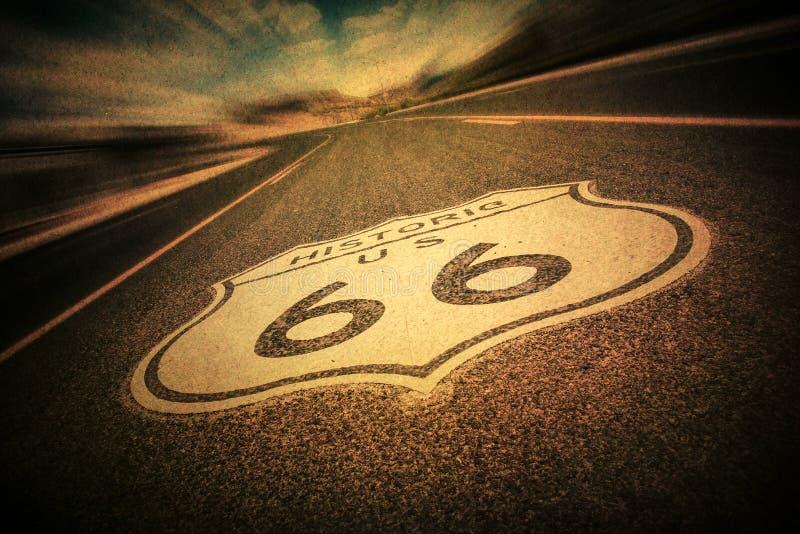 Route 66 -Weinlese-Art lizenzfreie stockfotos