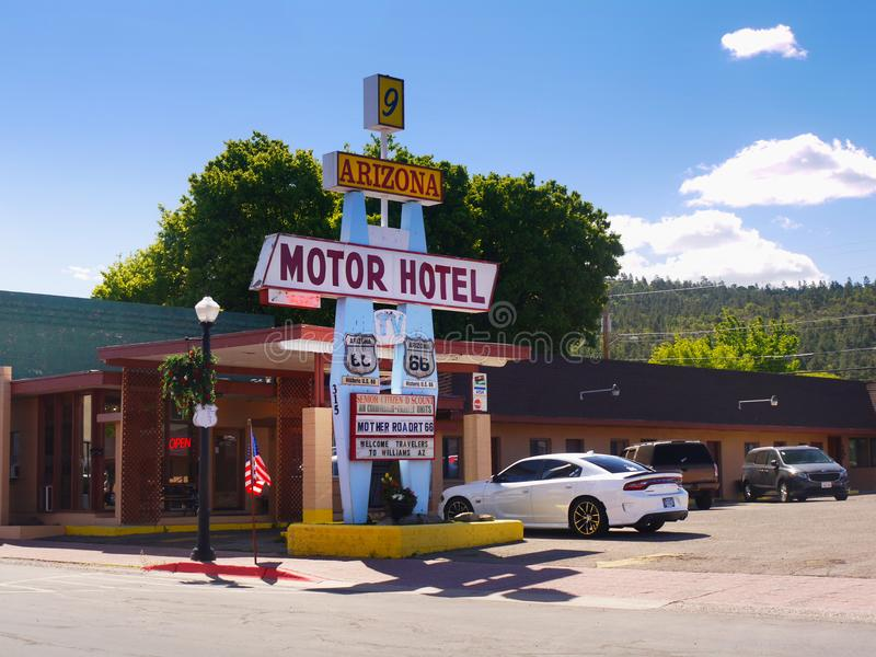 Route 66 Williams Main Street, Arizona Amerika stockfoto