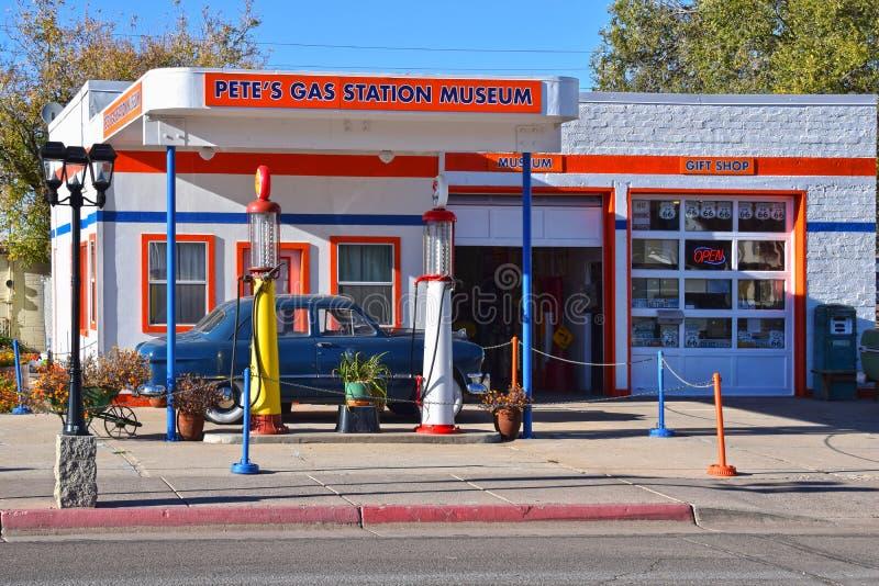 Route 66, Williams, museo della stazione di servizio fotografie stock libere da diritti