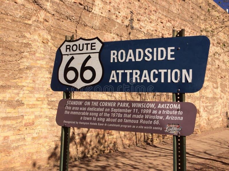 Route 66 Winslow Arizona fotografia de stock royalty free