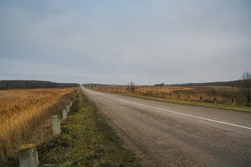 Route Zaporozhye-Mariupol images stock