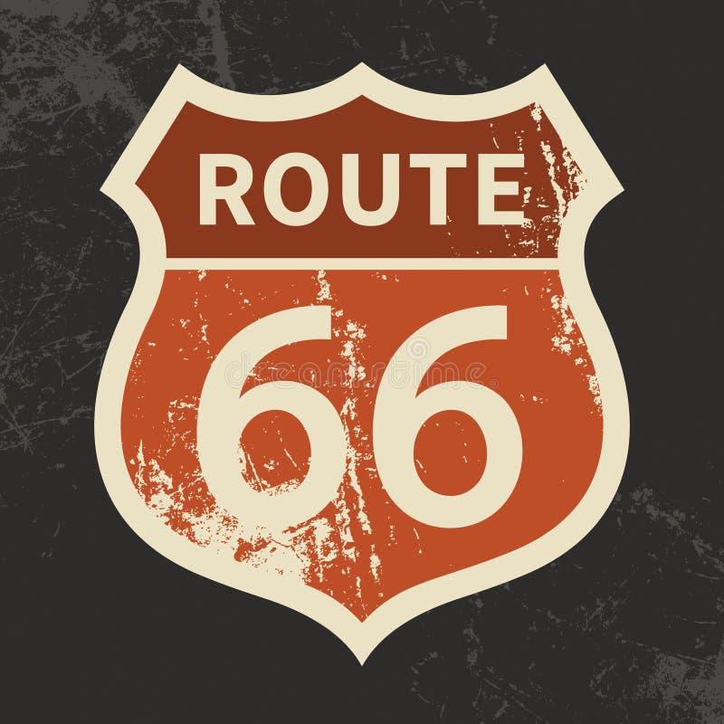 Route 66 -Zeichen vektor abbildung