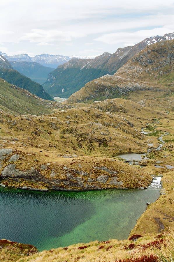 Routeburn Spur, Neuseeland stockfotografie