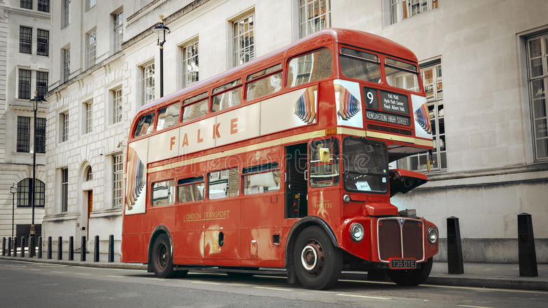Routemaster Bus. Routemaster Heritage Bus parked up in London royalty free stock photography