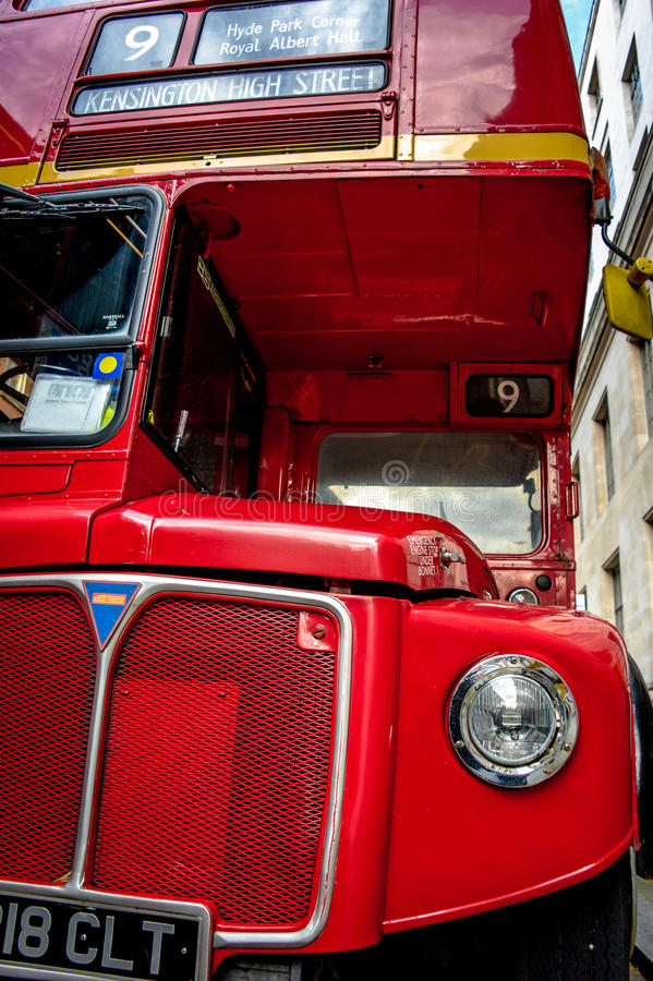 Routemaster. A red double decker in london royalty free stock photos
