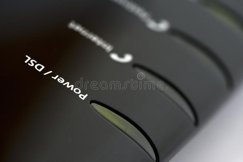 Router. DSL Router with LED display royalty free stock photo