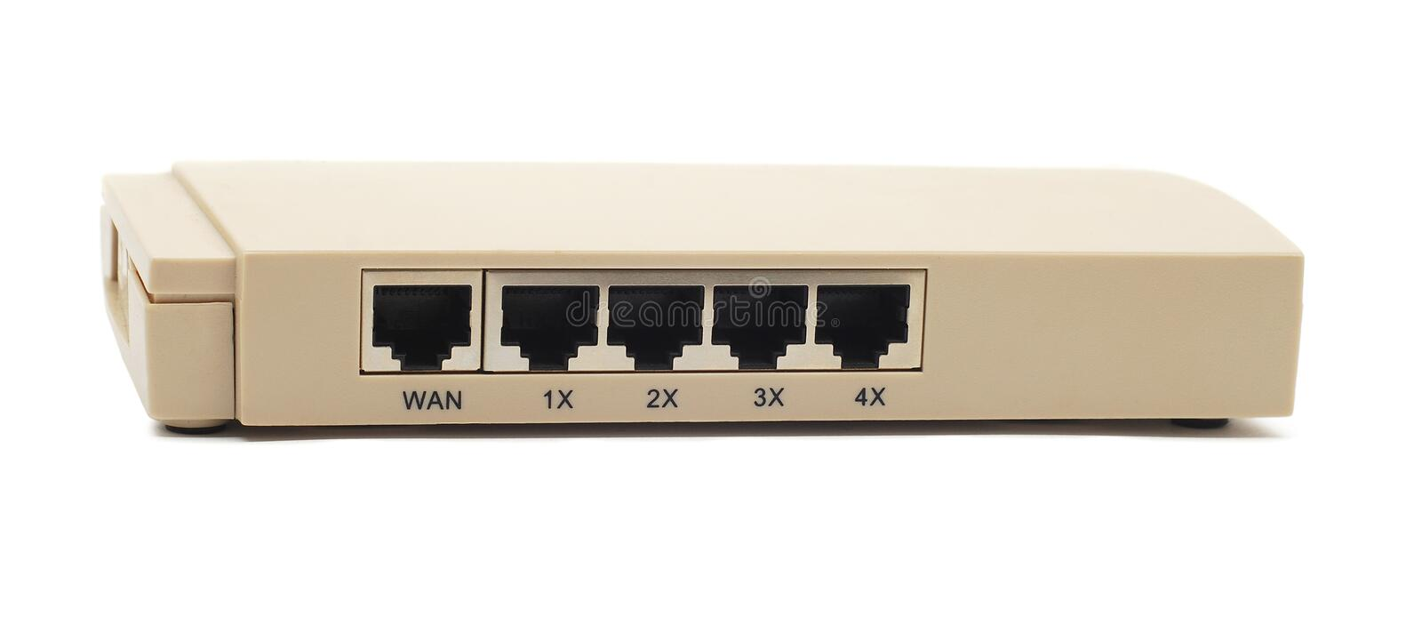 Download Router stock image. Image of connection, plug, network - 21721231