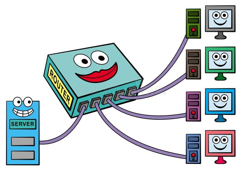 Download Router stock illustration. Illustration of illustration - 26881938