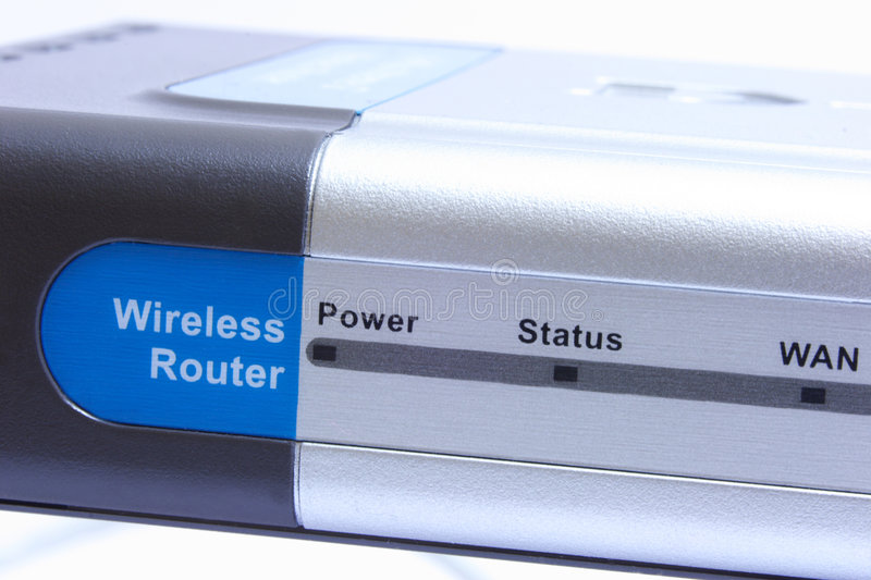 Router. Wireless router with antenna royalty free stock images