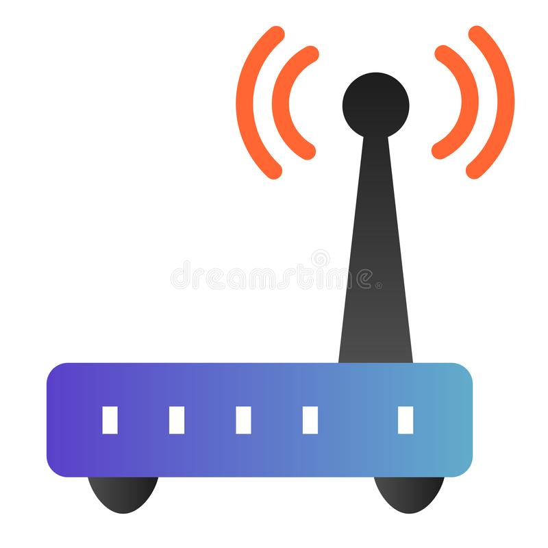 Free Router Flat Icon. Wi Fi Color Icons In Trendy Flat Style. Wireless Network Gradient Style Design, Designed For Web And Stock Photos - 160028893