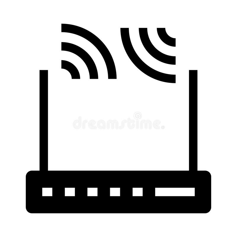 Router glyphs icon. Router Vector glyphs Icon. Elements for mobile concept and web apps. Thin line icons for website design and development, app development royalty free illustration