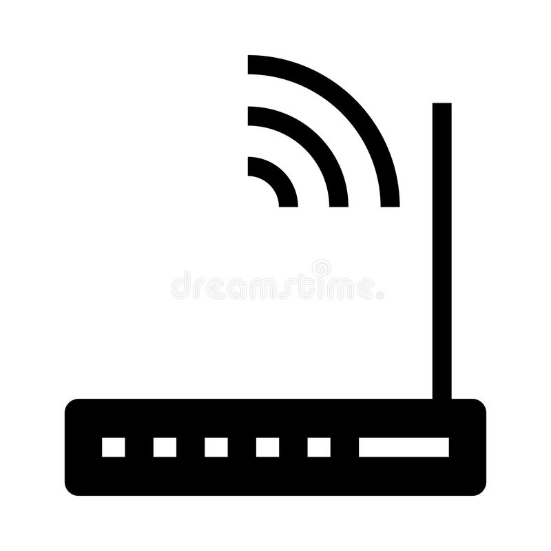 Router glyphs icon. Router Vector glyphs Icon. Elements for mobile concept and web apps. Thin line icons for website design and development, app development stock illustration