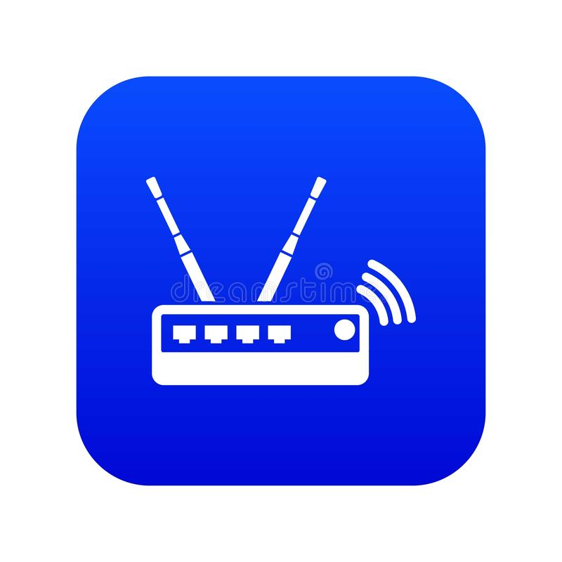 Router icon blue vector stock illustration