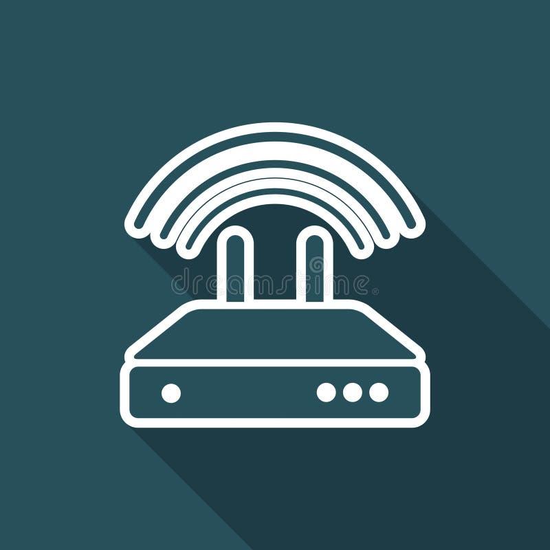 Router - icona minima piana royalty illustrazione gratis