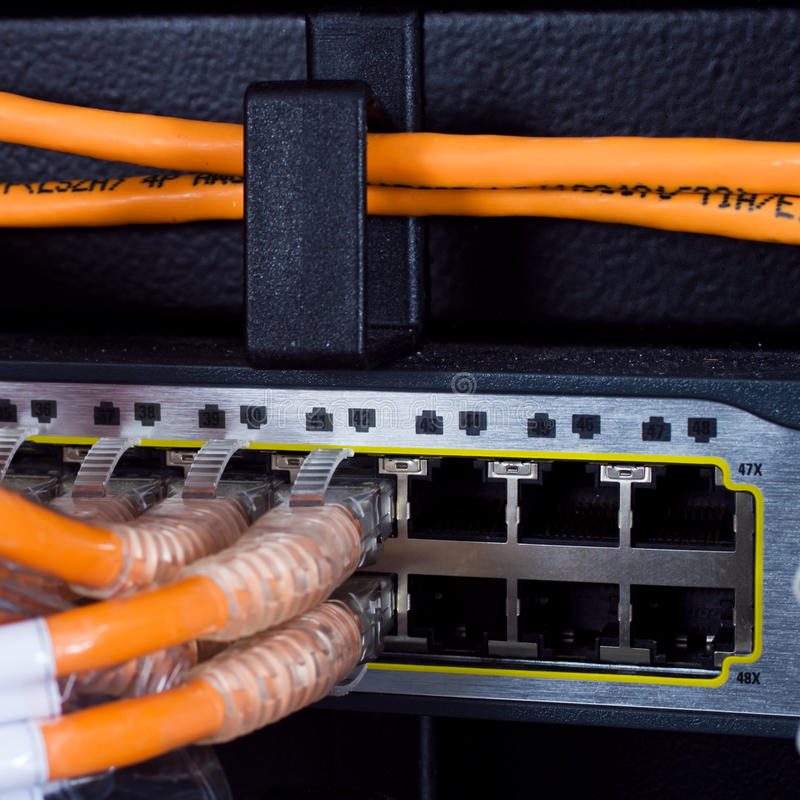 Download Router Network Connections stock image. Image of rack - 22391763