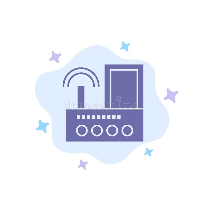 Router, przyrząd, sygnał, Wifi, Radiowa Błękitna ikona na abstrakt chmury tle ilustracji