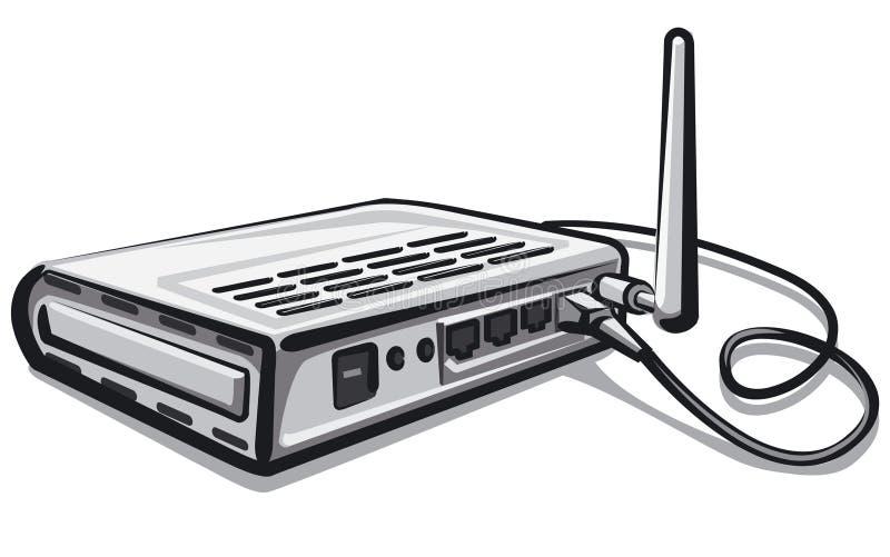 Router w sieci ilustracji
